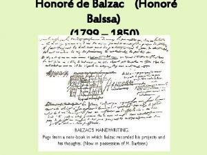 Honor de Balzac Honor Balssa 1799 1850 o