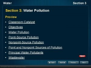 Water Section 3 Water Pollution Preview Classroom Catalyst