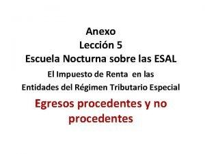 Anexo Leccin 5 Escuela Nocturna sobre las ESAL