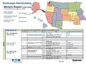 Roadranger Field Marketing Western Region United States P