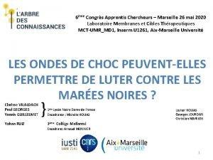 6me Congrs Apprentis Chercheurs Marseille 26 mai 2020