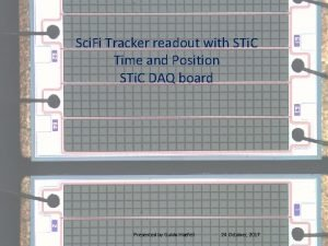 Sci Fi Tracker readout with STi C Time