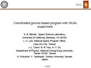 ISUAL Coordinated ground based program with ISUAL experiment