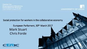 Social protection for workers in the collaborative economy