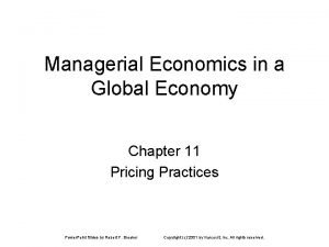 Managerial Economics in a Global Economy Chapter 11