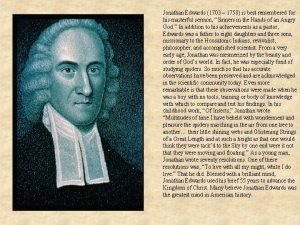 Jonathan Edwards 1703 1758 is best remembered for