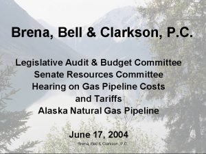 Brena Bell Clarkson P C Legislative Audit Budget