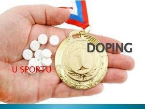 DOPING U SPORTU Doping Moda ste uli za