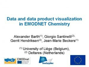 Data and data product visualization in EMODNET Chemistry