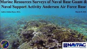 Marine Resources Surveys of Naval Base Guam Naval