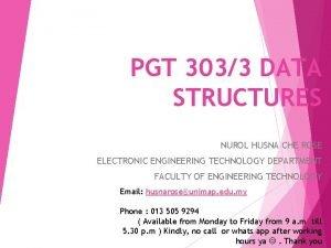 PGT 3033 DATA STRUCTURES NUROL HUSNA CHE ROSE