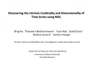 Discovering the Intrinsic Cardinality and Dimensionality of Time