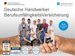 Deutsche Handwerker Berufsunfhigkeits Versicherung Inhaltsverzeichnis Zahlen Fakten Deutsche