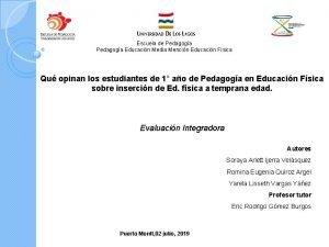 Escuela de Pedagoga Educacin Media Mencin Educacin Fsica