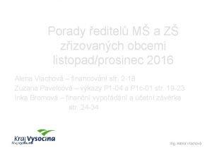 Porady editel M a Z zizovanch obcemi listopadprosinec
