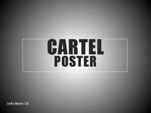 CARTEL POSTER Sofa Nieto Gil El cartel Es
