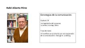 Rafel Alberto Prez Estrategias de la comunicacin Captulo