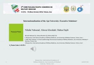 Internationalization of the Aja University Executive Solutions Personal