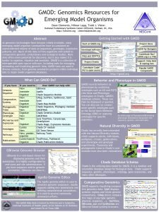 GMOD Genomics Resources for Emerging Model Organisms Dave