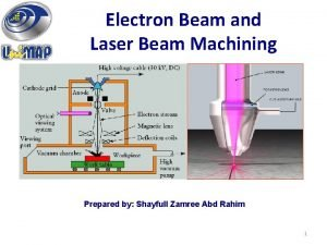 Electron Beam and Laser Beam Machining Prepared by