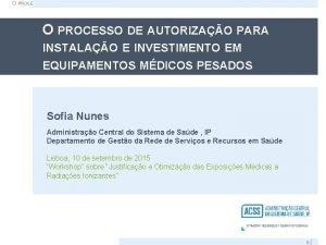 O PROCESSO DE AUTORIZAO PARA INSTALAO E INVESTIMENTO