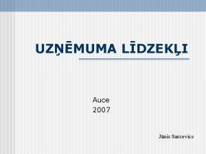 UZMUMA LDZEKI Auce 2007 Jnis Sarcevics Defincija Uzmuma