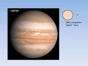 JUPITER Tailles compares Jupiter Terre Nom Diamtre km