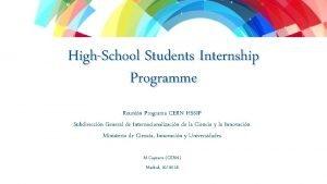 International Relations Sector Secteur Relations Internationales HighSchool Students