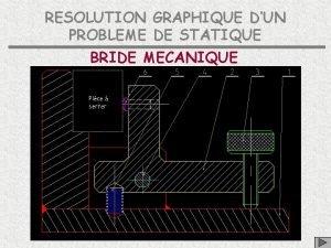 RESOLUTION GRAPHIQUE DUN PROBLEME DE STATIQUE BRIDE MECANIQUE