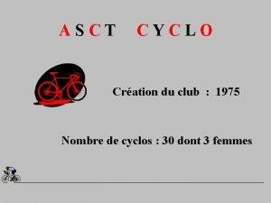 ASCT CYCLO Cration du club 1975 Nombre de