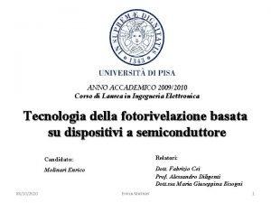 ANNO ACCADEMICO 20092010 Corso di Laurea in Ingegneria