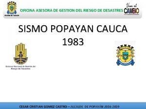 OFICINA ASESORA DE GESTION DEL RIESGO DE DESASTRES