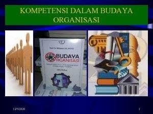 KOMPETENSI DALAM BUDAYA ORGANISASI 1252020 1 KOMPETENSI DALAM