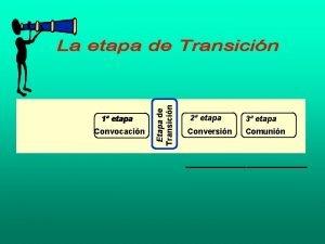 1 etapa Convocacin Etapa de Transicin Tiempo 2