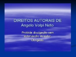 DIREITO NOTARIAL E REGISTRAL ANGELO VOLPI NETO www