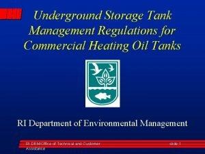 Underground Storage Tank Management Regulations for Commercial Heating