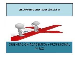 DEPARTAMENTO ORIENTACIN CURSO 15 16 ORIENTACIN ACADEMICA Y