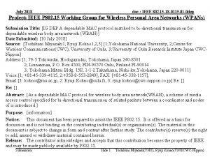July 2018 doc IEEE 802 15 18 0115
