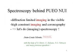 Spectroscopy behind PUEO NUI diffraction limited imaging in