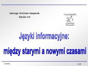 Jadwiga WoniakKasperek IINi SB UW 1212020 1 19