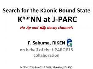 Search for the Kaonic Bound State bar K