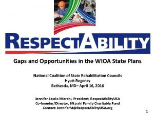 Gaps and Opportunities in the WIOA State Plans