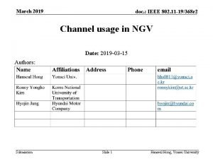 March 2019 doc IEEE 802 11 19368 r