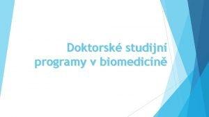 Doktorsk studijn programy v biomedicn Webov strnky DSPB