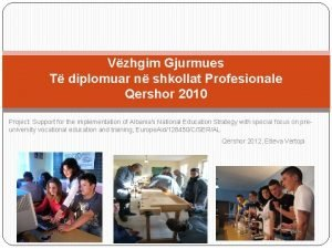 Vzhgim Gjurmues T diplomuar n shkollat Profesionale Qershor