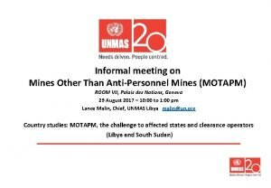 Informal meeting on Mines Other Than AntiPersonnel Mines