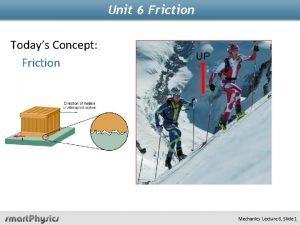 Unit 6 Friction Todays Concept Friction UP Mechanics