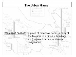 The Urban Game Resources needed a piece of