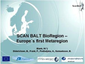 SCAN BALT Bio Region Europes first Metaregion Blank