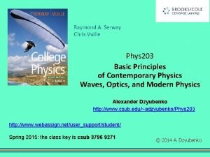 Raymond A Serway Chris Vuille Phys 203 Basic